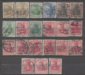 COLLECTION LOT # 4939 GERMANY 21 STAMPS 1902+ CLEARANCE CV+$29