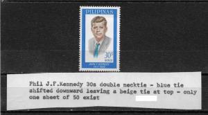 Philippines 1965, JFK, John F. Kennedy RARE Tie ERROR # 927,XF MNH**OG (NR-7)