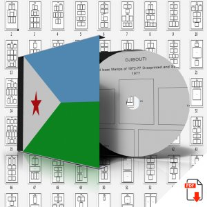 DJIBOUTI STAMP ALBUM PAGES 1972-2006 (163 PDF digital pages)