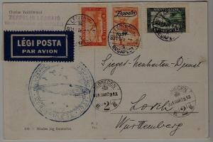 Hungary Zeppelin card 29.3.31 Debrecen