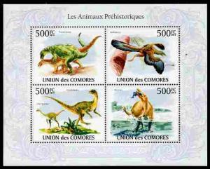 Comoro Islands 2010 Prehistoric Animals perf sheetlet con...