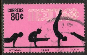 MEXICO 993, 80c Gymnastics 4th Pre-Olympic Set Used. F-VF. (752)