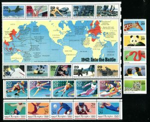 US 1992 Commemorative Year Set 83 stamps,  Mint NH, see scans