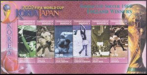 2003 Dominica 3416-21KL 2002 FIFA World Cup in Japan and Korea 7,50 €