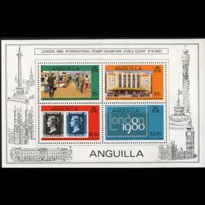 ANGUILLA 1979 - Scott# 374b S/S London Exhib. NH