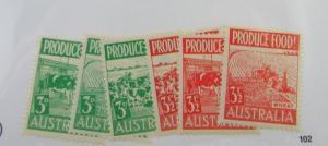 Australia SC #250-55 PRODUCE FOOD  MH stamp