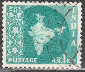 INDIA 275, MAP OF INDIA, USED, VF. (414)