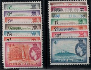 Tristan da Cunha 1954-1958 SC 14-27 Mint SCV $70.00 Set
