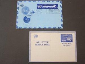 United Nations (NY) 2 air Aerogramme