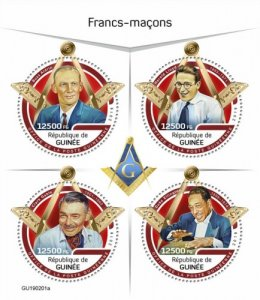 GUINEA - 2019 - Freemasons - Perf 4v Sheet - M N H