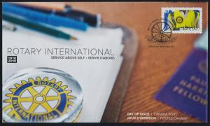 Canada 2394 on FDC - Rotary International