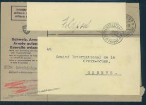Switzerland WWII Internment Camp Murt Soldier Feldpost Cover 54038