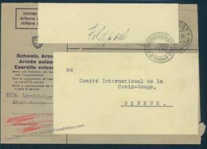 Switzerland WWII Internment Camp Murt Soldier Feldpost Cover 54038