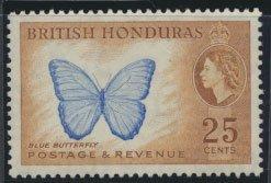British Honduras SG 186 SC # 151 MVLH  perf 13½ Blue Butterfly  see scan