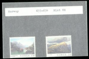 NORWAY Sc#633-634 MINT NEVER HINGED Complete Set