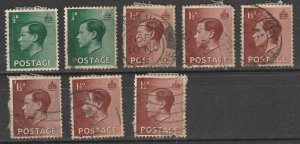 #230,232 Great Britain Used Edward VII