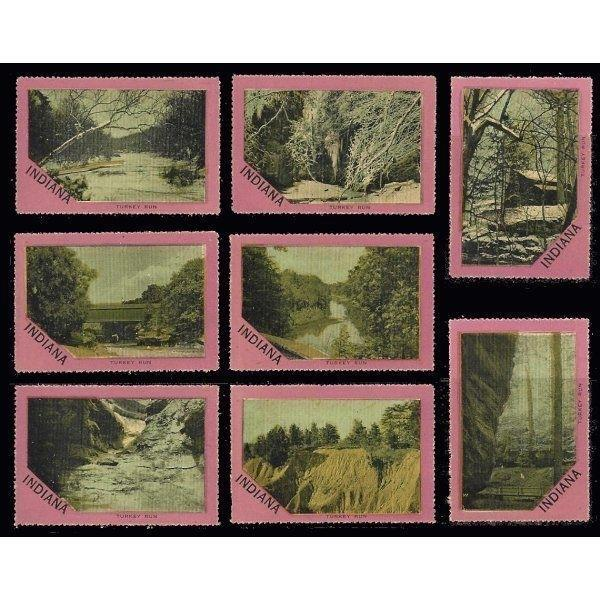 US - Indiana Scenic View Poster Stamps