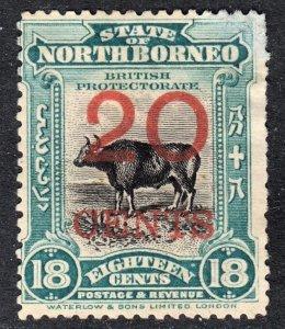 North Borneo Scott 148 F+  with very pale CTO at top right corner.