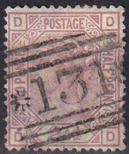 Great Britain #67 Plate 11 F-VF Used  CV $60.00 (SU7809)