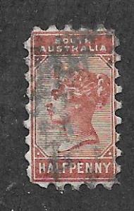 South Australia #76 1/2p Queen Victoria  (U) CV $2.50