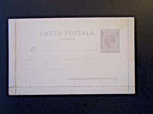Romania Early 1900s 15 Bani Letter Card / Unused - Z5148