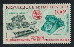 Upper Volta ITU Centenary 1965 MNH SG#161