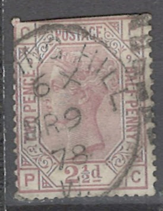 COLLECTION LOT # 2230 GREAT BRITAIN #67p9 FAULTY 1876 CV=$60