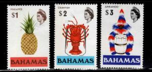 Bahamas Scott 328-330 MH* hi value stamps
