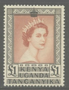 Kenya, Uganda 1954 Elizabeth Definitive set Sc# 103-17 NH