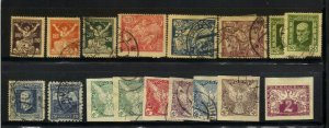 Czechoslovakia 1918-27 Selection 64 Stamps F