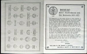 BERLIN POSTAL ESTABLISHMENTS & POSTMARKS 1800-1875 Germany Postal History