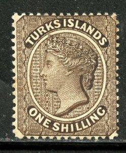 Turks # 47, Mint Hinge, Used. CV $ 6.00