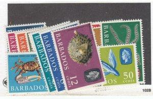 BARBADOS #s 267-280,267a,269A,270b,274a,275a,280B VF-MNH/MLH VARIOUS DESIGNS $40