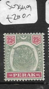 MALAYA PERAK (P1412B) TIGER 25C  SG 73  MOG