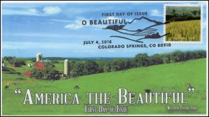 18-194, 2018, O' Beautiful, First Day Cover, Pictorial Postmark, Pasture Land WI