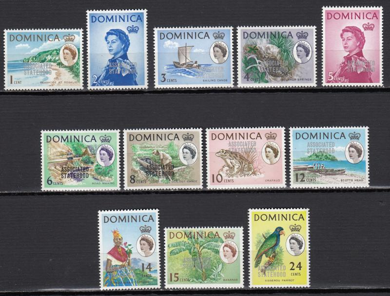 Dominica - 1968 QEII overprinted set to 24c Sc# 211/222 - MNH (2469)