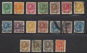 Canada 104 thru 122 113OGNH CV$183+