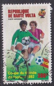 Burkina Faso (Upper Volta) #C271 F-VF postally used 1982 World Cup