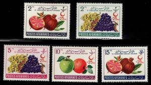 Afghanistan MNH B42-6 Fruits 1961