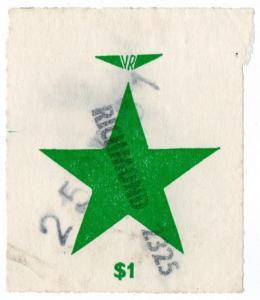 (I.B) Australia - Victoria Railways : Parcel Stamp $1 (Richmond)