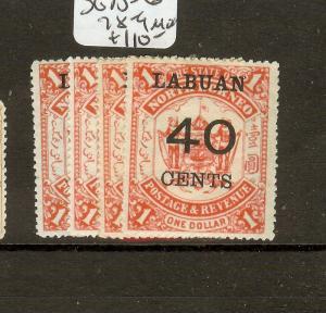 LABUAN (B0802) SUCHARGES  SG75-6. 78-9  MOG