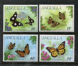 Anguilla 123-126, MNH, Insects Butterflies 1971. x23798