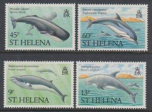 St Helena 483-486 Whales MNH VF
