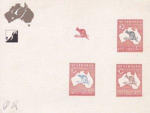 K354) Australia 2007 Kangaroos High Values Proof Card