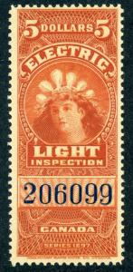van Dam FE16b - $5 vermillion - MNH - 1900 Electric Light Effigy