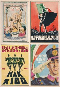 Card Germany Italy WWII Military Academy Mussolini Mint Fresh