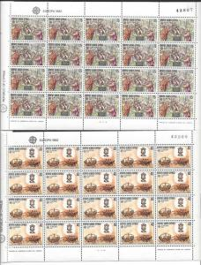 Cyprus, 579-80, Europa 1982 Sheets(20),**MNH**