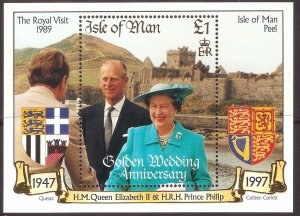 Isle of Man 1997,Royals QEII MNH S/Sheet   # 762
