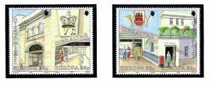 Gibraltar 563a and 565a MNH 1990 Europa
