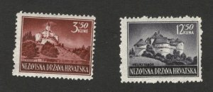 CROATIA-NDH- MNH SET-DEFINITIVE-1943/1944.